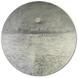 London Docks By Moonrise